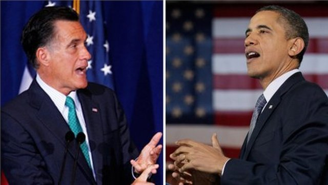 Romney and Obama
