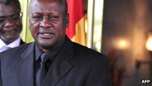 President John Dramani Mahama pictured in September 2012