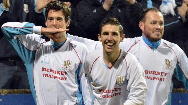 Mark Surgenor scored for Ballymena United