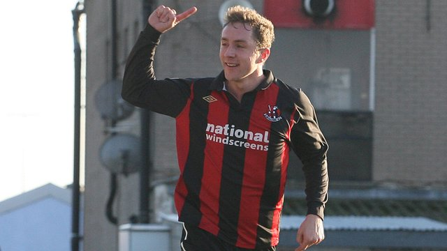 Timmy Adamson celebrates his second goal