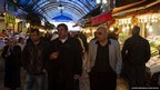 People shopping in open market of Uskudar