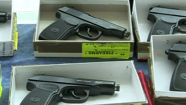 Firearms seized by Greater Manchester Police