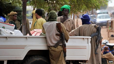 Armed Islamists in the north of Mali