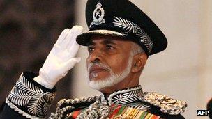 Sultan Qaboos, ruler of Oman