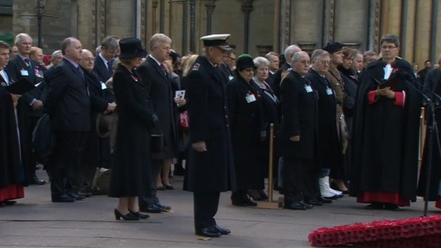Prince Philip pays his respects