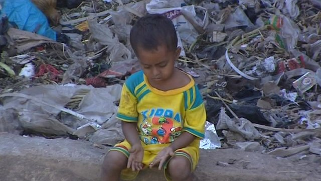 A child living in poverty in India