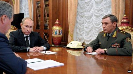 Gen Valery Gerasimov in Kremlin, 9 Nov 12
