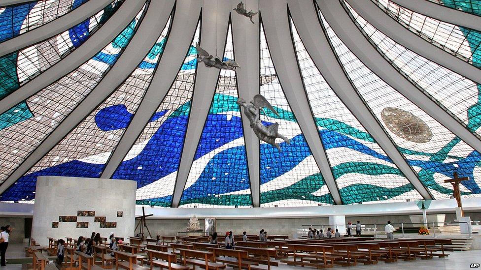Brasilia's Cathedral interior taken 26 May 2005