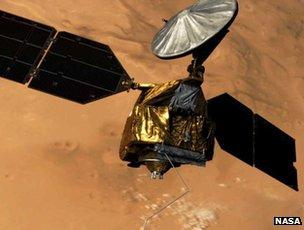 Artist's impression of Mars Reconnaissance Orbiter