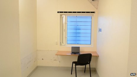 Breivik's bare study cell in Ila high-security prison outside Oslo