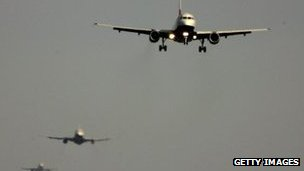 Planes waiting to land