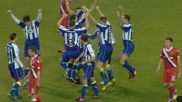 Kilmarnock players celebrate