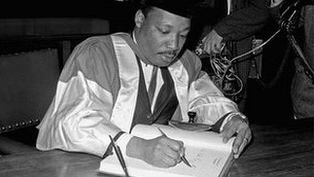 Martin Luther King. Photo copyright Newcastle University