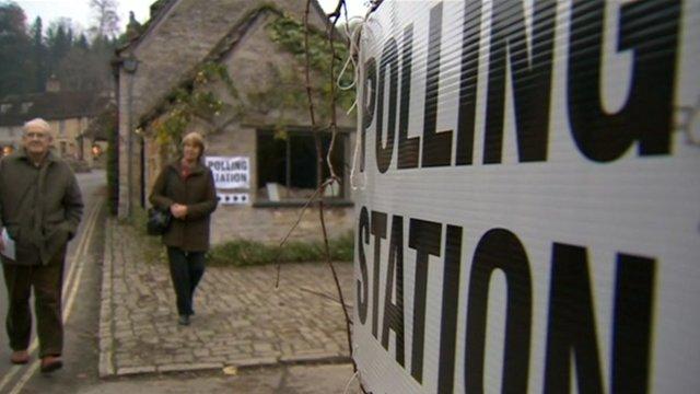 Polling station in Swindon