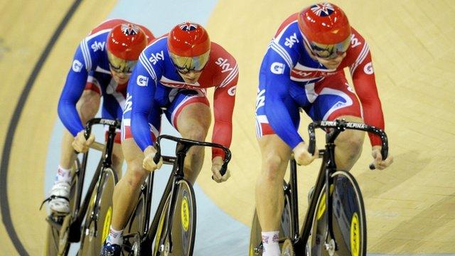 Great Britain's men's team sprint
