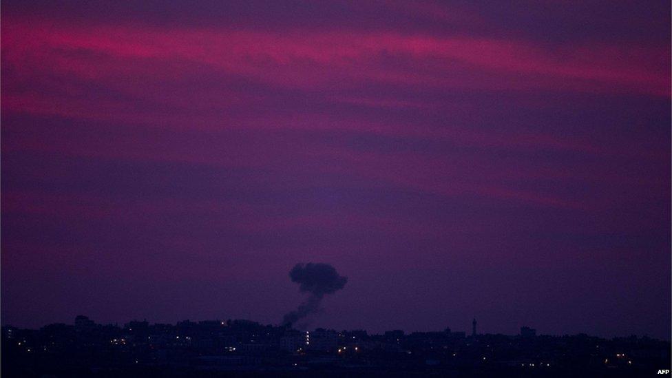 Smoke over Gaza, 16 November 2012