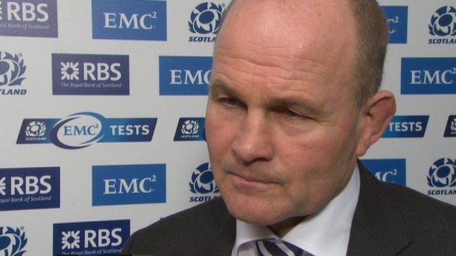 Scotland head coach Andy Robinson