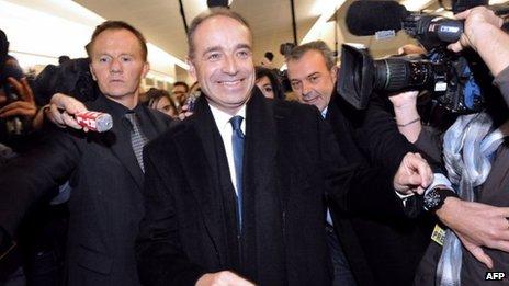 Jean-Francois Cope arriving at party HQ (18 Nov 2012)