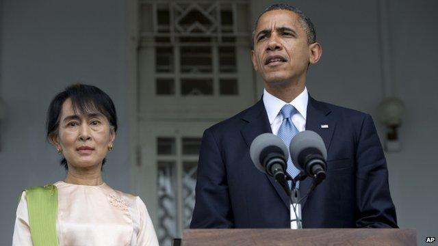President Obama and Aung San Suu Kyi