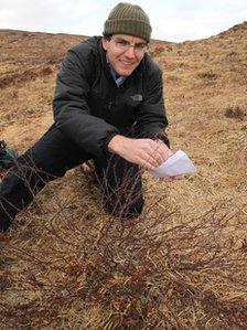 Richard Buggs and a dwarf birch