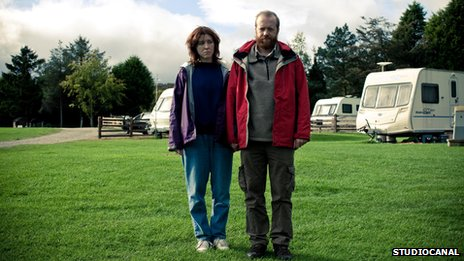 Tina (Alice Lowe) and Chris (Steve Oram) in Sightseers