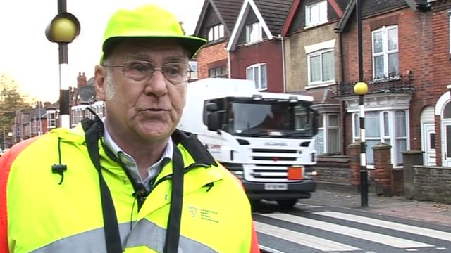Lollipop man Barry Brannick has been involved in several close calls in Lincoln