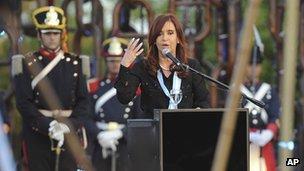 President Cristina Fernandez de Kirchner, San Pedro, Argentina
