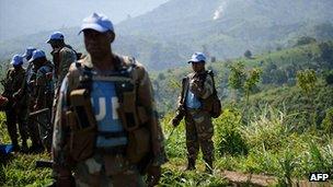 South African Monusco troops in Masisi territory, DRC. June 2012