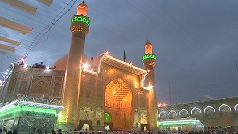Shia shrine in Najaf