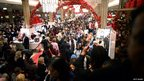 Shoppers crush into Macy's in New York