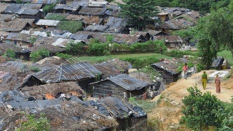 Rohingya village in south-eastern Bangladesh