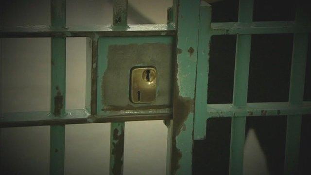 A prison cell lock