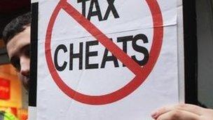 Tax protestor
