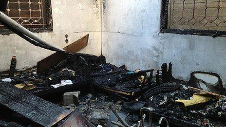 Inside Jehad's house