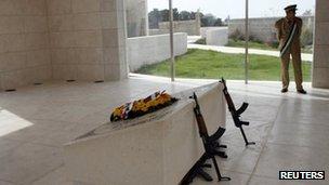 Yasser Arafat's tomb in Ramallah (file image)