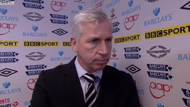 Newcastle manager Alan Pardew