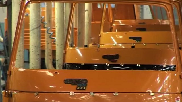 Auto rickshaw production line in India