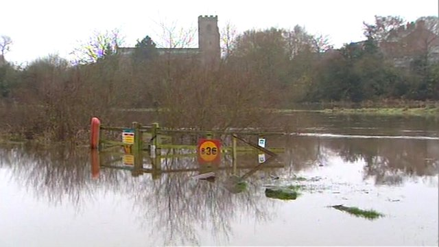 flooded River Dee