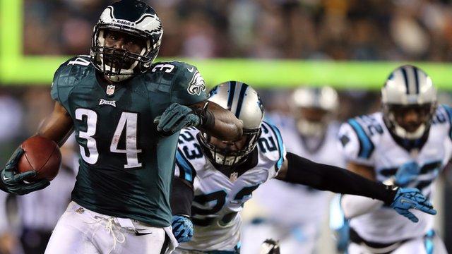 Philadelphia Eagles' Bryce Brown scores 65-yard touchdown