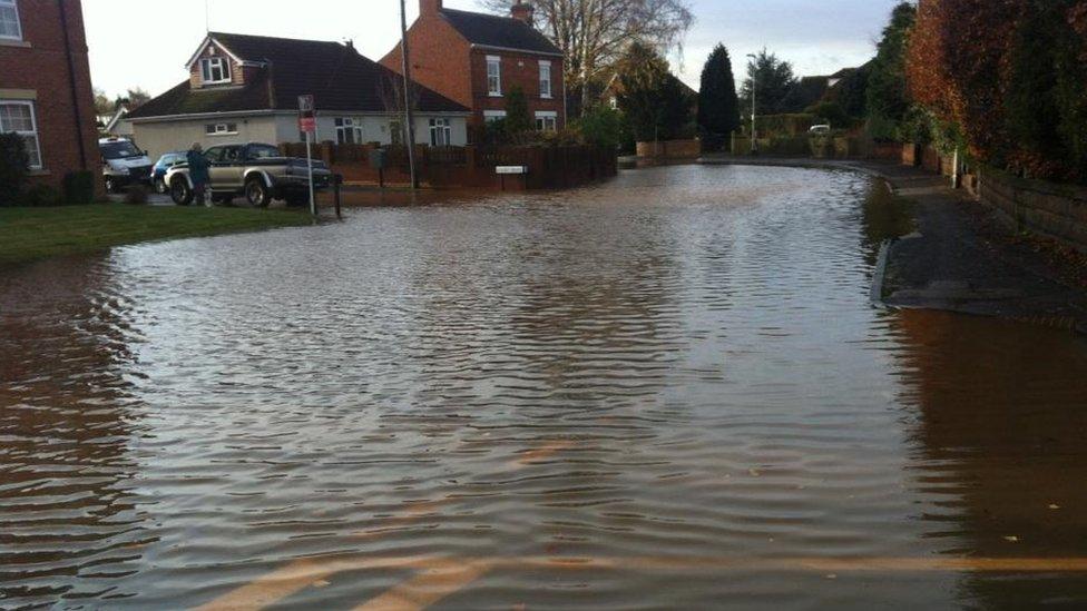 bbc news in pictures floods east midlands. Black Bedroom Furniture Sets. Home Design Ideas