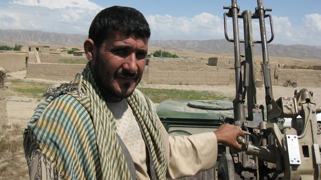 An Afghan fighter in Takhar province, Afghanistan