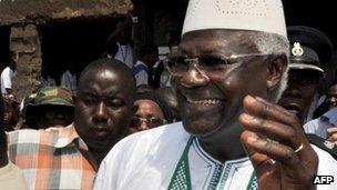 Sierra Leone's President Ernest Bai Koroma on 17 November 2012