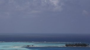 General view of the area with San Andres Island