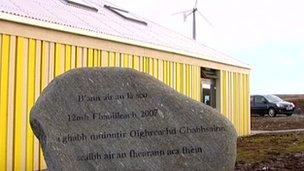 Clach chuimhneachaidh ann an Gabhsann