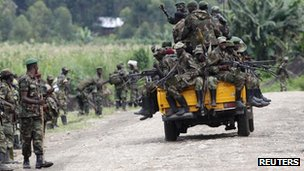 M23 rebels withdraw from the town of Sake in eastern Congo