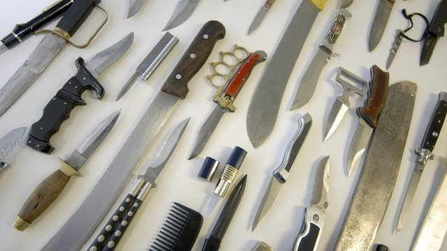 Knives taken from youths in London