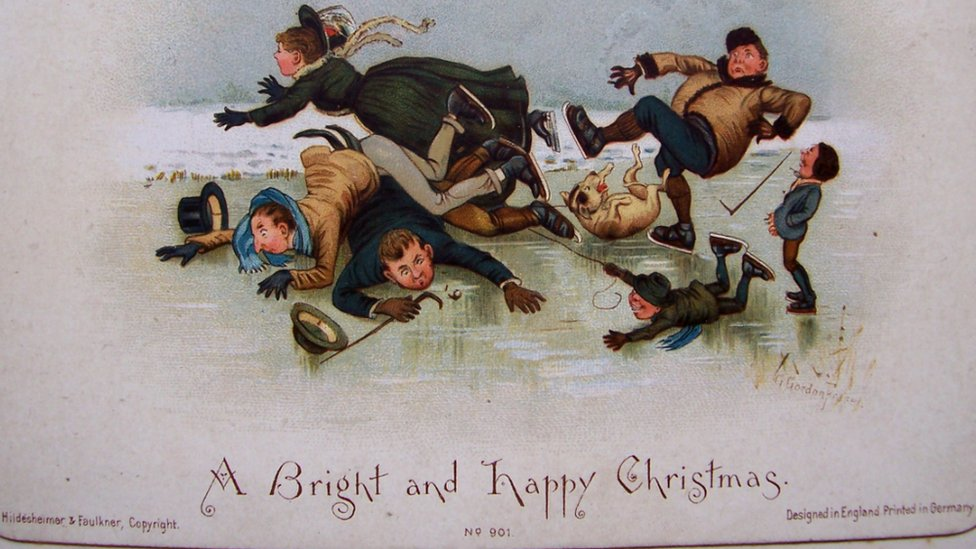 BBC News - Early Christmas cards in Cumbria council\'s archive