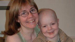 Josh Hill and his mum
