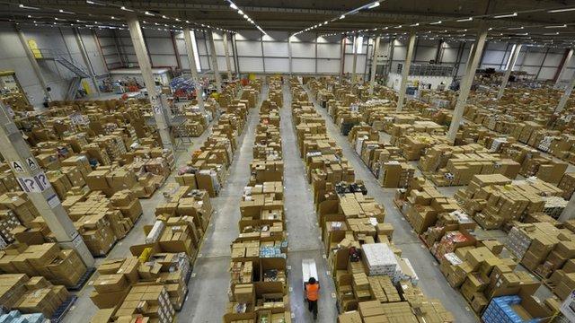 The Amazon fulfilment centre in Swansea
