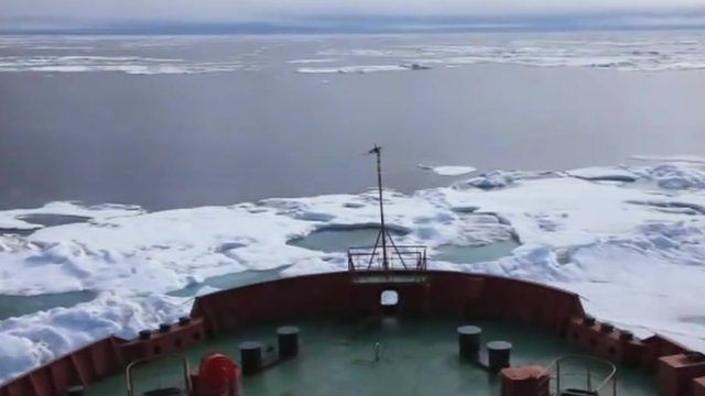 Tanker in Arctic ice